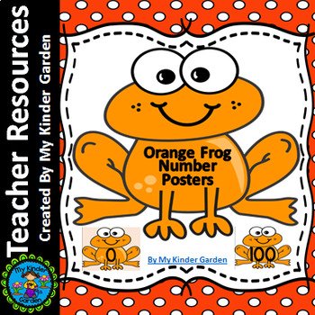 Orange Frog Full Page Number Posters 0-100