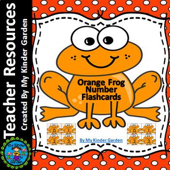 Orange Frog Math Number Flashcards 0-100