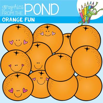 Orange Fun Clipart Set