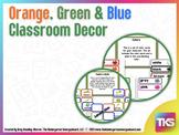 Orange Green and Blue Decorating Set
