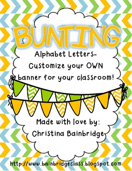 Orange, Green, and Teal Buntings- Customize Your Own Banner!