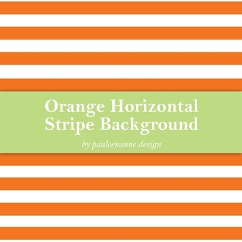 Orange Horizontal Stripe Background