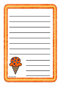 Orange Ice Creams Worksheets