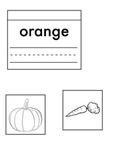 """Orange"" Interactive Notebook Entry-Kindergarten"