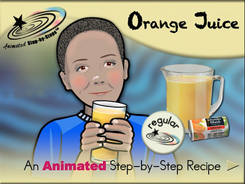 Orange Juice - Animated Step-by-Step Recipe - Regular