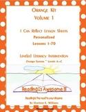 """LLI Orange Kit """"I Can Reflect"""" Worksheets Levels A-C  less"""