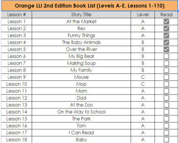 Orange LLI 2nd Edition Book List