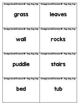 Orange LLI Sentence Strips for Retelling & Word Cards Lessons 41-50