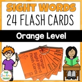 New Zealand Sight Words Orange Level Flash Cards