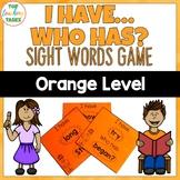New Zealand Sight Words Orange Level I have Who Has Game