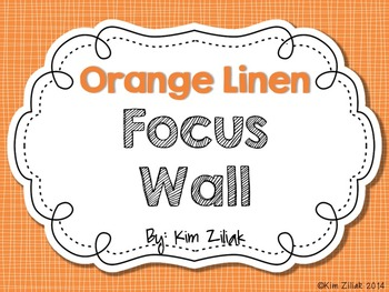 Orange Linen Focus Wall {White}