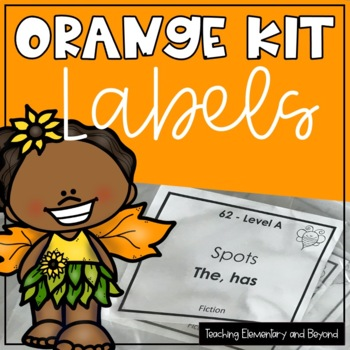Orange Literacy Kit Labels Freebie