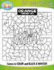 Orange Objects Color By Code Clipart {Zip-A-Dee-Doo-Dah Designs}