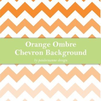 Orange Ombre Chevron Background