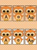 Orange Owl  Full Page Alphabet Letter Posters / Word Wall Headers