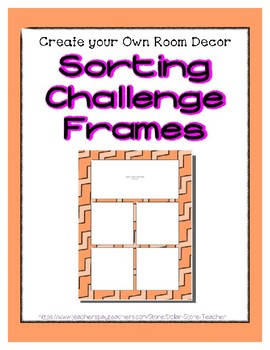 Orange Pastel Sorting Mat Frames * Create Your Own Dream Classroom Daycare