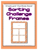 Orange Pastel Sorting Mat Frames * Create Your Own Dream C