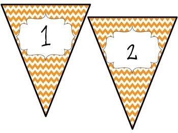 Orange Pennant Banner