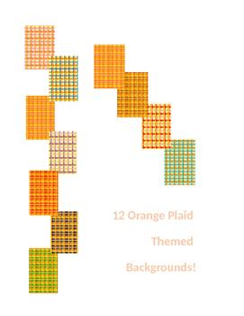 Orange Plaid Backgrounds
