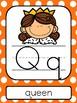 Orange Polka Dot ABC Posters