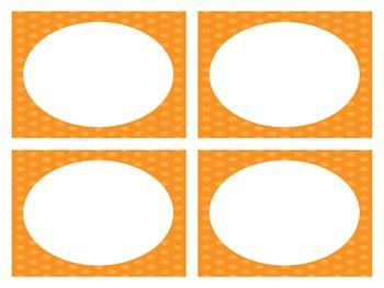 Orange Polka Dot Classroom Labels (Editable)