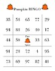 Jack -O- Lantern Bingo Board