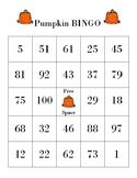 Bingo Board Jack -O- Lantern