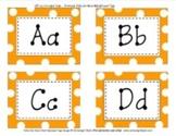 Word Wall Orange Polka Dot Alphabet Tags Classroom Decor