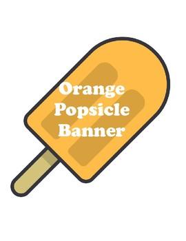 Orange Popsicle Banner