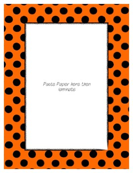 Orange Poster Frames * Create Your Own Dream Classroom / Daycare *
