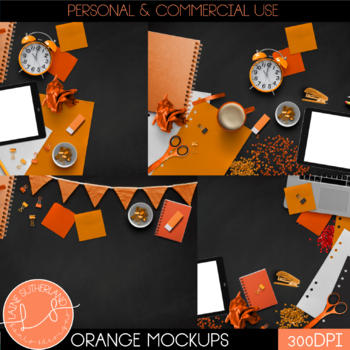 Orange Primary Brights Style Mockups