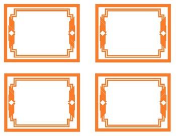 Orange Printable Classroom Decor