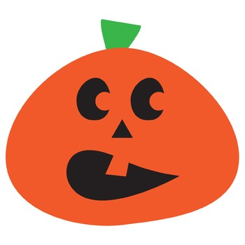 Orange Pumpkin Clipart | Jack-o-Lantern | Halloween Clip art