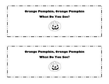 Orange Pumpkin Emergent Reader