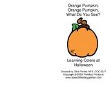 Orange Pumpkin Interactive Book