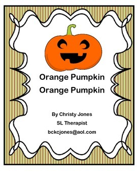 Orange Pumpkin, Orange Pumpkin (Story and Activities)