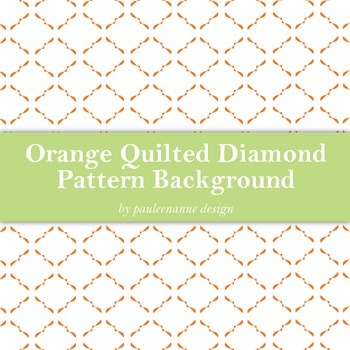 Orange Quilted Diamond Pattern Background