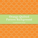 Orange Quilted Pattern Background