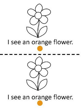 Orange-Read and color emergent reader with clipart