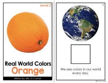 Orange - Real Life Colors Adapted Book Bundle   Real Picture Color Books