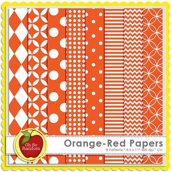 Orange-Red Basic Digital Papers