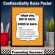 Orange School Counselor Confidentiality Sign Size 8x10 or 16x20