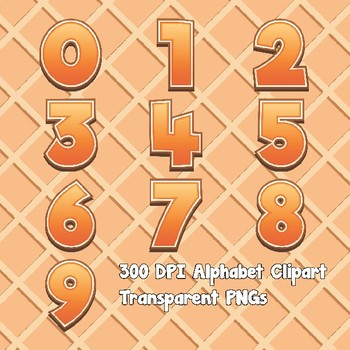 Orange Sherbet Alphabet Alpha Clip Art