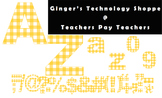 Orange Sherbet Gingham * Check Pattern * Bulletin Board Letters * #s * Symbols