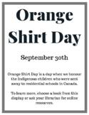 Orange Shirt Day Book Display Poster