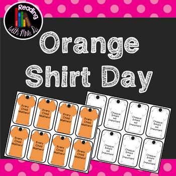 Orange Shirt Day Brag Tags