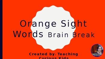 Orange Sight Word Brain Break
