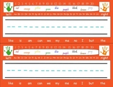 Orange Sight Word Name Tags