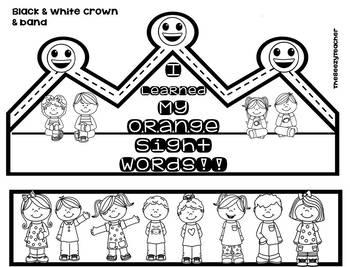 Orange Sight Words Level 2