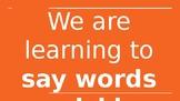 Orange Sight Words Slide Show